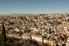 Albaicin district of Granada Royalty Free Stock Images