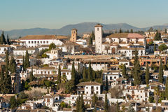 Albaicin district of Granada Royalty Free Stock Image