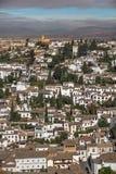 Albaicin, Granada da Alhambra nel primo mattino Fotografia Stock Libera da Diritti