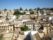 Albaicin in Granada, panorama Stock Foto