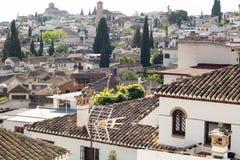 Albaicin Granada. A panoramic view of Albaicin, Granada, Spain stock photos
