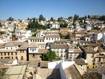albaicin Granada panoramiczny widok Zdjęcie Stock