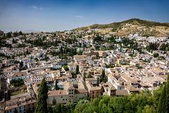Albaicin of Granada top view, Spain Royalty Free Stock Image