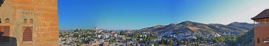 Albaicin - Granada veduti da Alhambra Palazzo-Spagna Immagine Stock