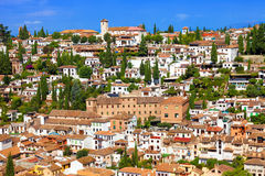 The Albaicin neighborhood, Granada, Spain Stock Photos