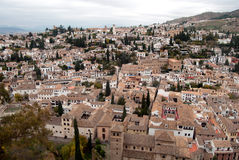 Albaicin neighborhood view. From the Alhambra in Granada Royalty Free Stock Image
