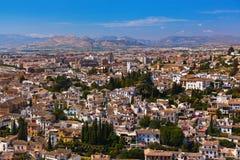 Albaicin (Old Muslim quarter) district of Granada Spain Stock Photo