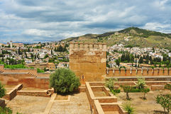 Albaicin and Sacromonte from La Alhambra Stock Photo