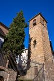 Albaicin San Jose kyrka i Granada Spanien royaltyfri foto