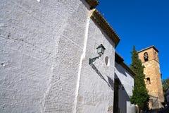 Albaicin San Jose kyrka i Granada Spanien royaltyfri bild