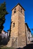 Albaicin San Jose kyrka i Granada Spanien fotografering för bildbyråer