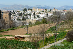 Albaicin seen from the Alhambra in Granada, Andalusia, Spain Stock Images