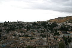 Albaicin seen from the Alhambra Royalty Free Stock Photo