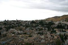 Albaicin som ses från Alhambraen royaltyfri foto