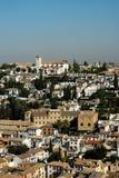 Albaicin vom Alhambra Lizenzfreies Stockbild