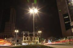 Albalad historiskt ställe Jeddah Saudiarabien på natten Balad som shoppar areaMay 12, 2018 Saudiarabien Royaltyfri Fotografi