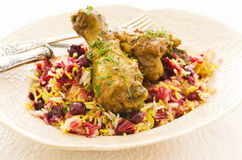 Albaloo Polow with Chicken Royalty Free Stock Images