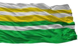 Alban City Flag, Κολομβία, τμήμα Cundinamarca, που απομονώνεται στο άσπρο υπόβαθρο Απεικόνιση αποθεμάτων