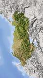 Albanië, in de schaduw gestelde hulpkaart Stock Afbeeldingen