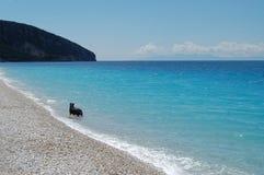 Albanië, Dhermi-strand stock afbeelding