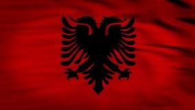 Albanië geanimeerde vlag stock videobeelden