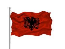 Albania 2 flagę Fotografia Stock