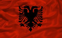 Albania 3 flagę Obrazy Stock