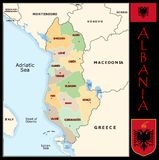 Albania Administrative divisions Royalty Free Stock Photo