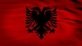 Albania animated flag stock video footage