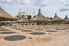 Albania. Beach in the resort place Golem Stock Photos