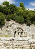 Albania, Butrint, Ruins of Ancient Amphiteatre Stock Photo
