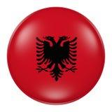 Albania button Stock Photography