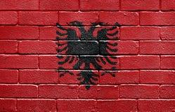 albania cegły flaga ściana Fotografia Stock