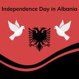 Albania dnia niepodległości Patriotyczny projekt Fotografia Royalty Free