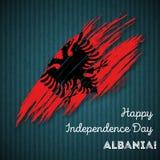 Albania dnia niepodległości Patriotyczny projekt Obrazy Stock