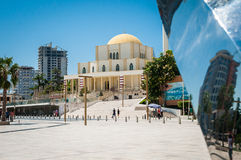 2016 Albania, Durres. The Grand Mosque of Durrës. Place in front of mosque durres Stock Images
