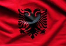 Albania falowania flaga Obrazy Stock