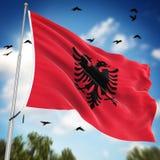 albania flagę royalty ilustracja