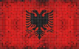 albania flagę Obraz Stock