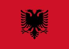 albania flagę Obrazy Stock