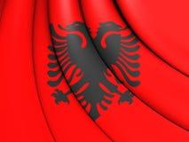 albania flagę Fotografia Royalty Free