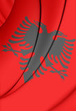 albania flagę ilustracja wektor