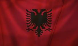 albania flagę Zdjęcie Stock