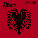 Albania flag brush strokes painted. Vector illustration Royalty Free Stock Image
