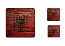 Albania Flag Buttons Stock Image