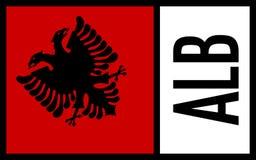 Albania flag - Icon stock photography