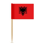 Albania flag toothpic 10eps Royalty Free Stock Photo