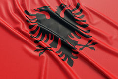 Albania flag Stock Photo