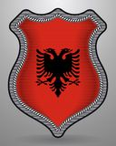 albania flagę Wektorowa odznaka i ikona Obraz Stock