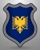 albania flagę Wektorowa odznaka i ikona ilustracji